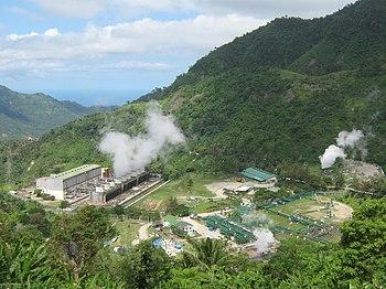 Planta de energá geotérmica en las Filipinas