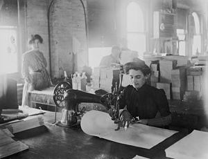Turn of the century sewing in Detroit.