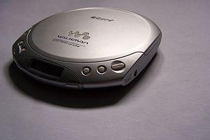 Silver Sony CD Walkman D-E330, taken from an a...