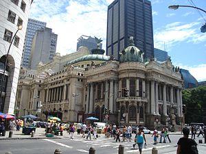 Municipal Theatre of Rio de Janeiro, Brazil.