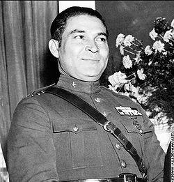 Fulgêncio Batista em 1952, na sua tomada de posse após o seu Golpe Militar.