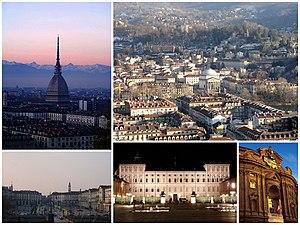 Italiano: Collage di varie foto di Torino
