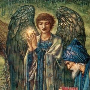 Edward Burne-Jones Star of Bethlehem detail