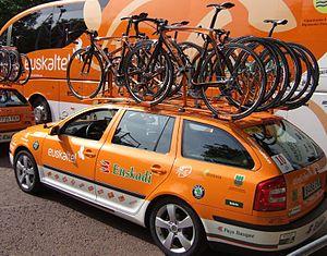 Euskaltel team cars (Tour de France 2007)