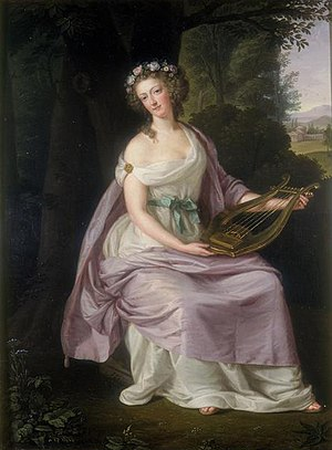 English: Queen Marie Antoinette as Erato. Ital...