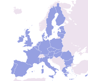 Map just showing Eu member states with the res...