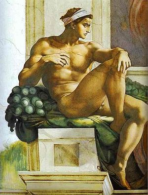 A Ignudo, Sistine Chapel
