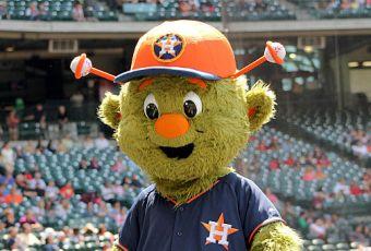 Orbit Houston Astros mascot preseason 2014