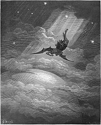 Kejatuhan Lucifer, ilustrasi oleh Gustave Doré untuk buku Paradise Lost karangan John Milton.