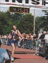 Rosie Swale Pope in Cardiff Marathon