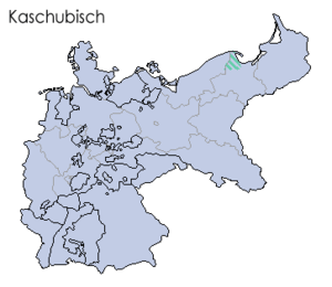 Locator map for the minority of kashubian lang...