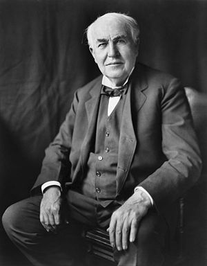 "English: ""Thomas Alva Edison, three-quart..."