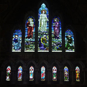 English: West Window depicting the Transfigura...