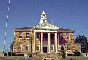 English: Winston County Courthouse, Double Spr...
