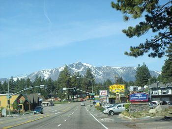 Highway 50 through South Lake Tahoe