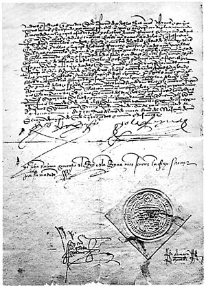 Copy of the Spanish edict of expulsion