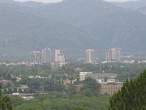 Bird's eye view of Islamabad, Pakistan