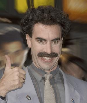 Borat bei der Deutschland-Premiere in Köln, au...