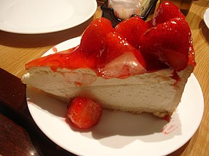 A slice of Strawberry Cheesecake from the Carn...