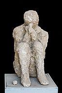 Cast sitting victim Pompeii