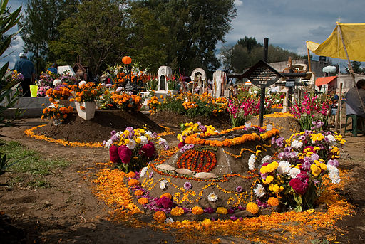 Day of the Dead at Tecomitl Cemetery