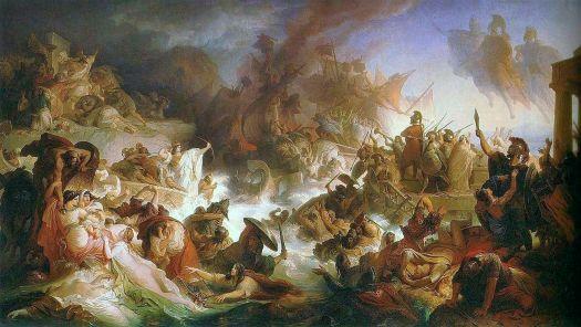 Kaulbach, Wilhelm von - Die Seeschlacht bei Salamis - 1868.JPG