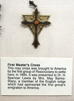 A Rosicrucian Master's Cross, from the AMORC R...