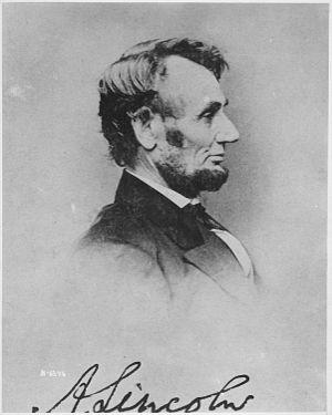 Photograph of President Abraham Lincoln - NARA...