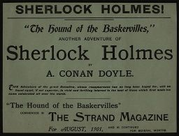 Advertising broadsheet for The Hound of the Baskervilles