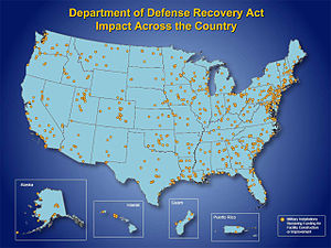 DOD Recovery Act impact across the country.