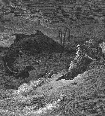 Jonah Cast Forth By The Whale, by Gustave Doré.