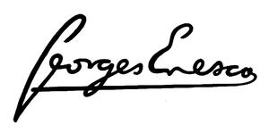Signature de Goerges Enesco