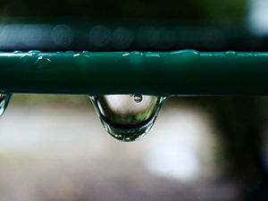 Bahasa Melayu: Air bubble trapped in a water d...