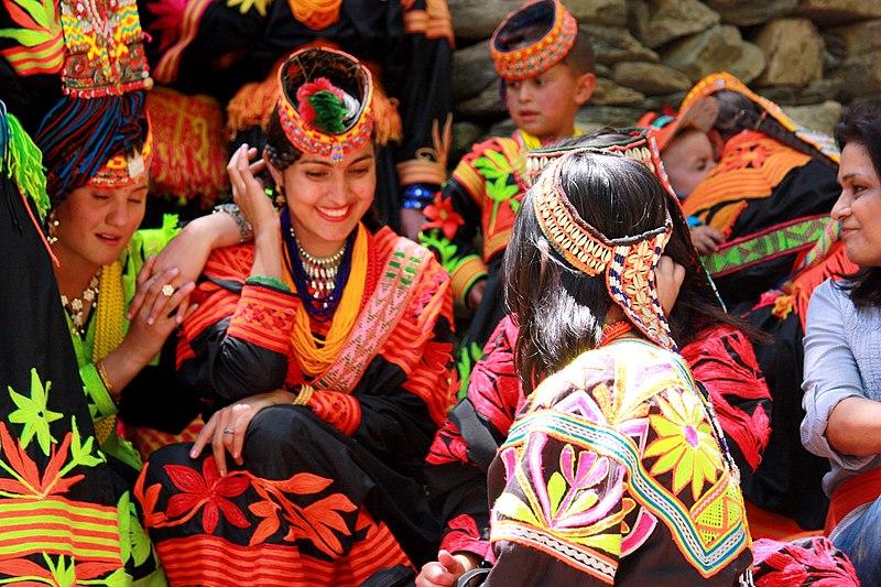 File:Kalash women traditional clothing.jpg