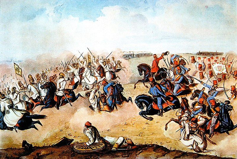 Hungarian hussars in battle during the Hungarian Revolution.