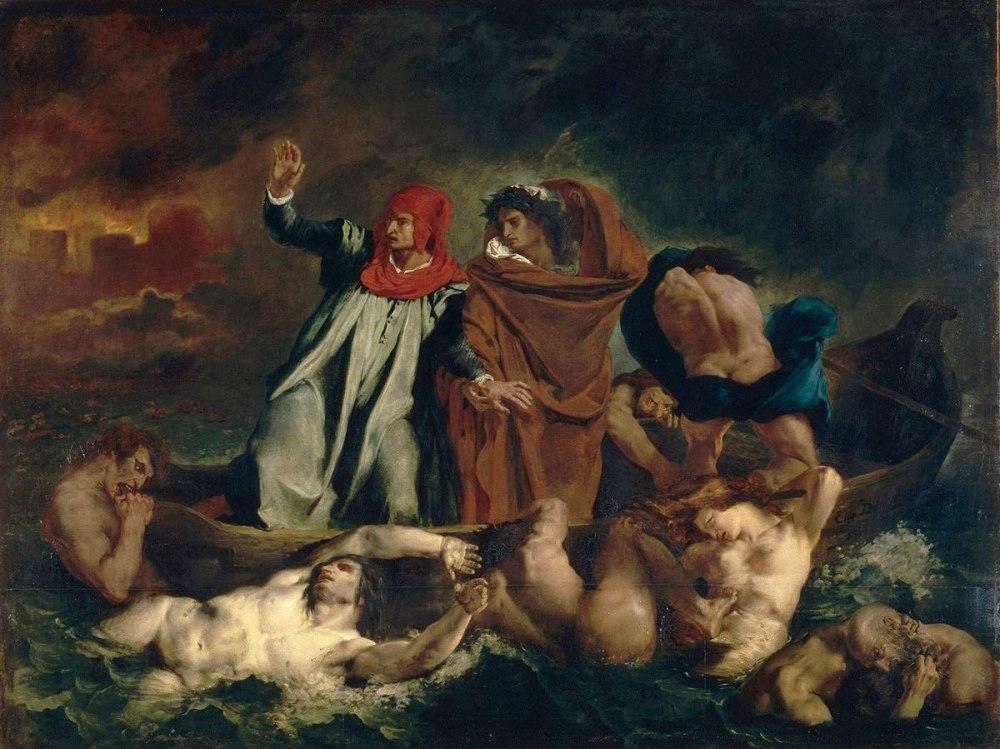 Resultado de imagen para La barca de Dante Louvre