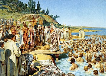 Image result for vladimir baptises kiev russians