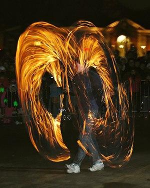 Fire Poi at Needham's New Year's Eve celebrati...