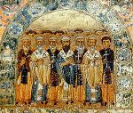 Church Fathers, a miniature from Svyatoslav's ...