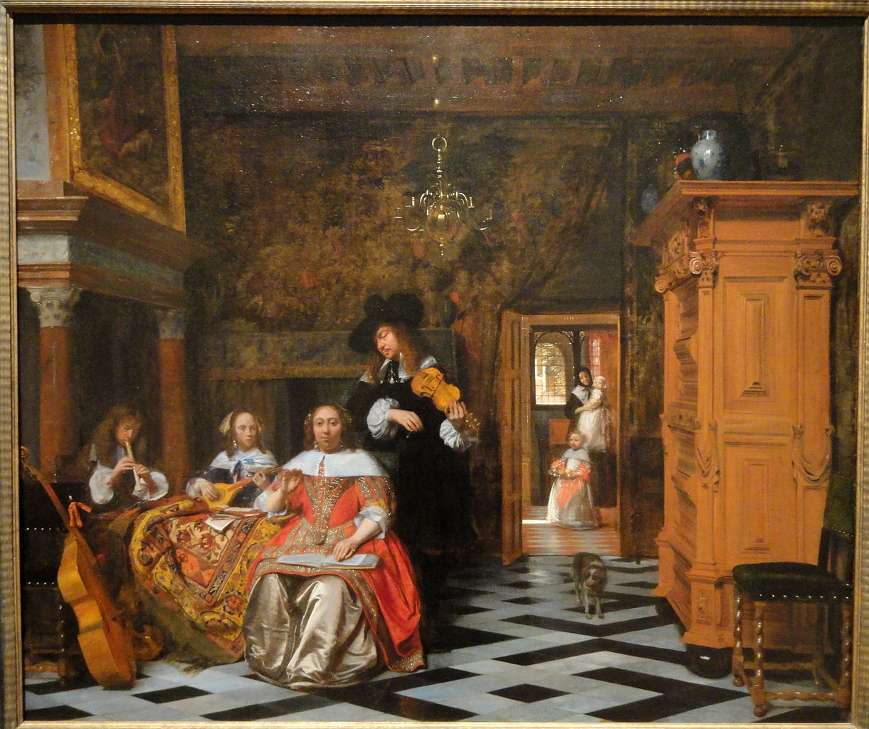File Portrait Of A Family Playing Music 1663 Pieter De