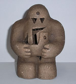 English: reproduction of the Prague Golem Česk...