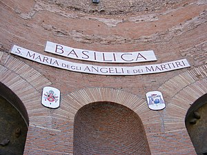 Santa Maria degli Angeli, Roma - Sign and COA.
