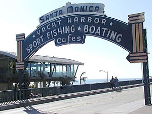 "The ""Santa Monica Harbor"" neon sign ..."