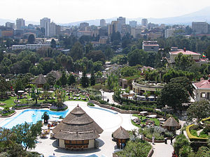 English: View from the Sheraton Hotel in Addis...
