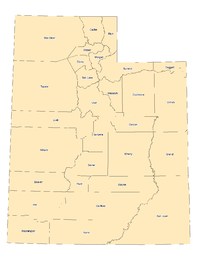 Utah county boundaries