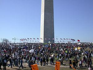 Anti-war rally in Washington, D.C., March 15, 2003