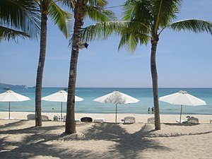 Boracay's White Beach, at Boat Station 2. Pols...