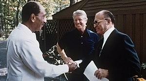 Israeli prime minister Menachem Begin and Egyp...