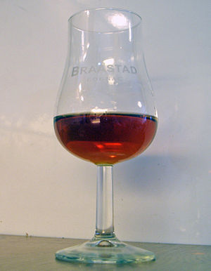 Tulip shaped cognac glass