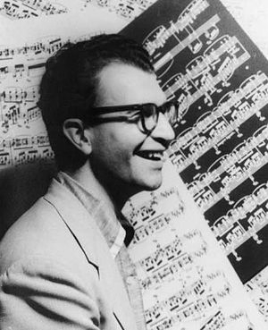 Title: Portrait of Dave Brubeck, with sheet mu...